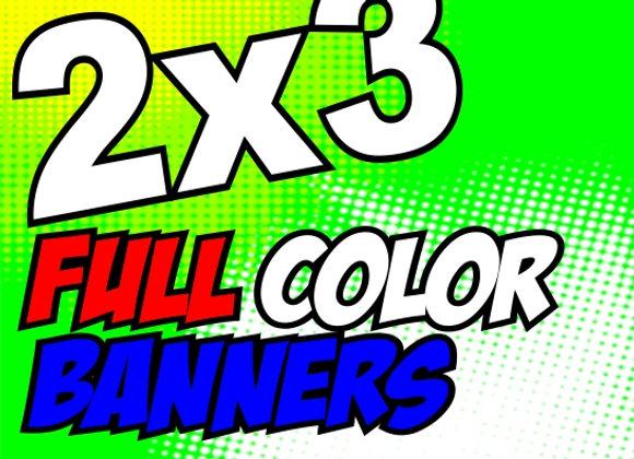 2X3 FULL COLOR BANNER