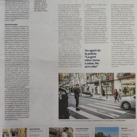 Diari Sabadell es fa ressò de l'any de mobilitazacions de Protegim-nos