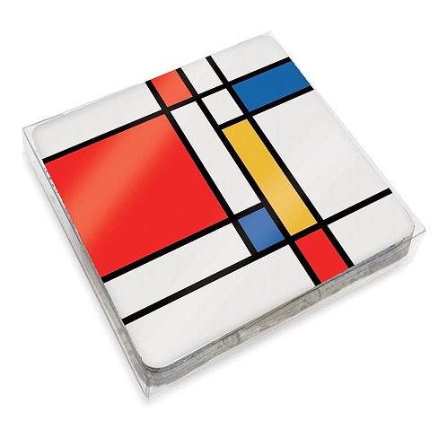 Set de 6 Coasters Mondrian