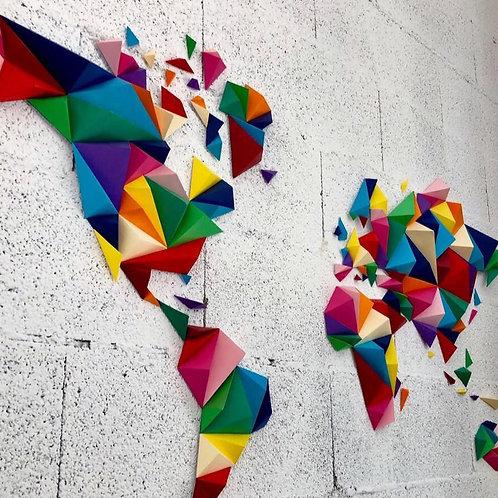 Kit Papercraft 3D Mappemonde - OWARLD