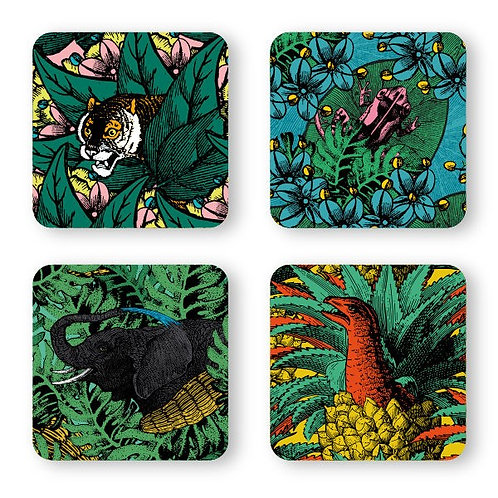 Coasters JUNGLE x4 - Gangzaï