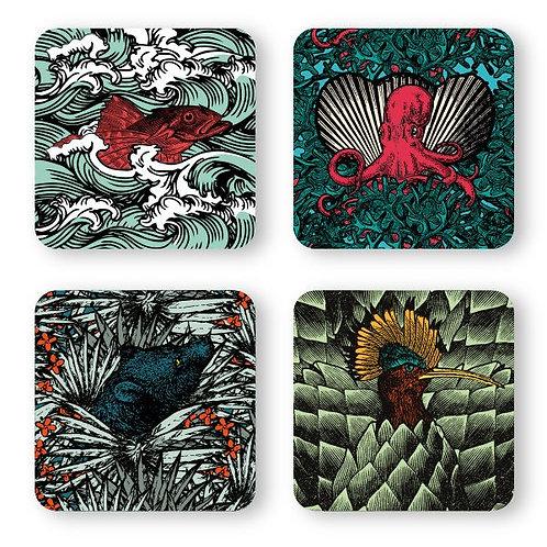 Coasters BESTIAIRE x4 - Gangzaï