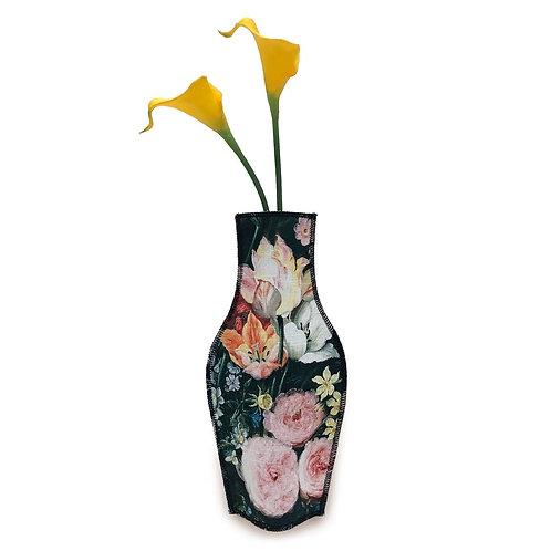Vase en Tissus Fleurs Baroques