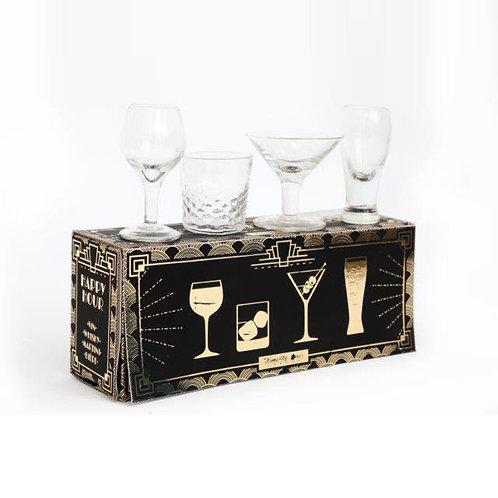 """Set de 4 verres à Shooter """"Cocktails"""""""