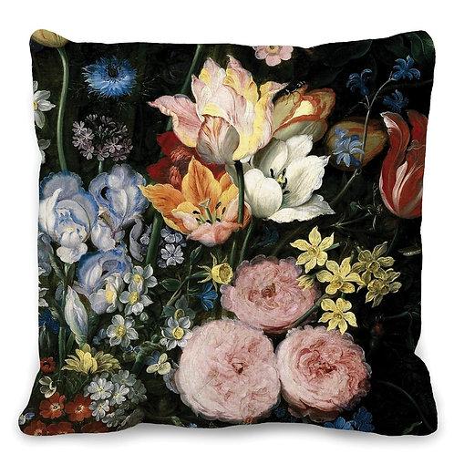 Housse de Coussin Fleurs Baroques