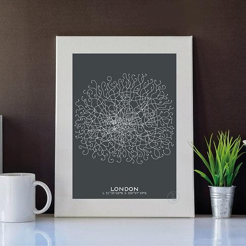 Poster  Plan Londres - 30x40cm