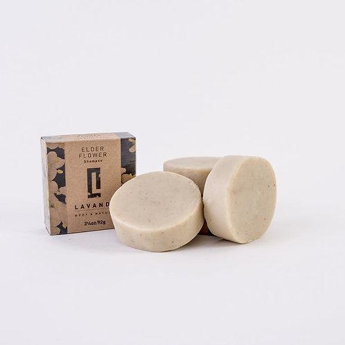 Shampooing solide ELDERFLOWER & COCONUT MILK - Lavandi Body & Nature