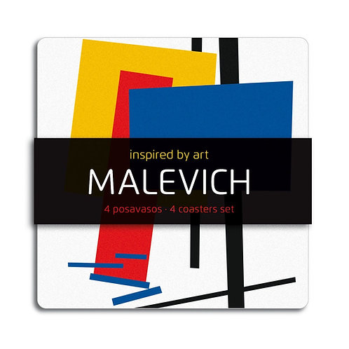 Set de 4 Coasters Malevich