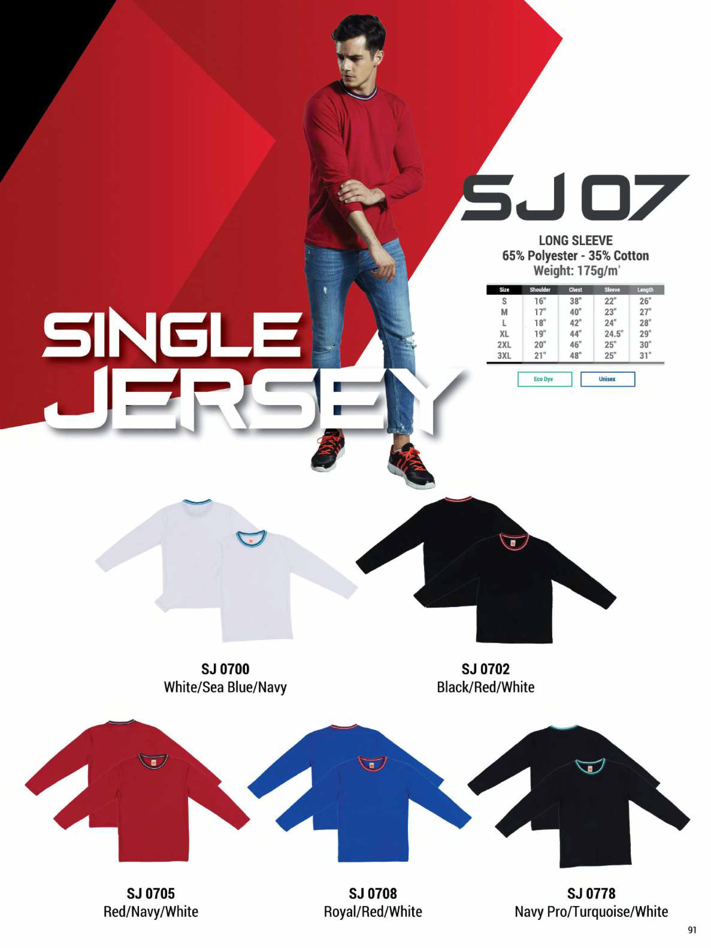 SJ07 COTTON LONG SLEEVE T-SHIRT