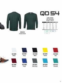 QD54 DRI FIT LONG SLEEVE T-SHIRT