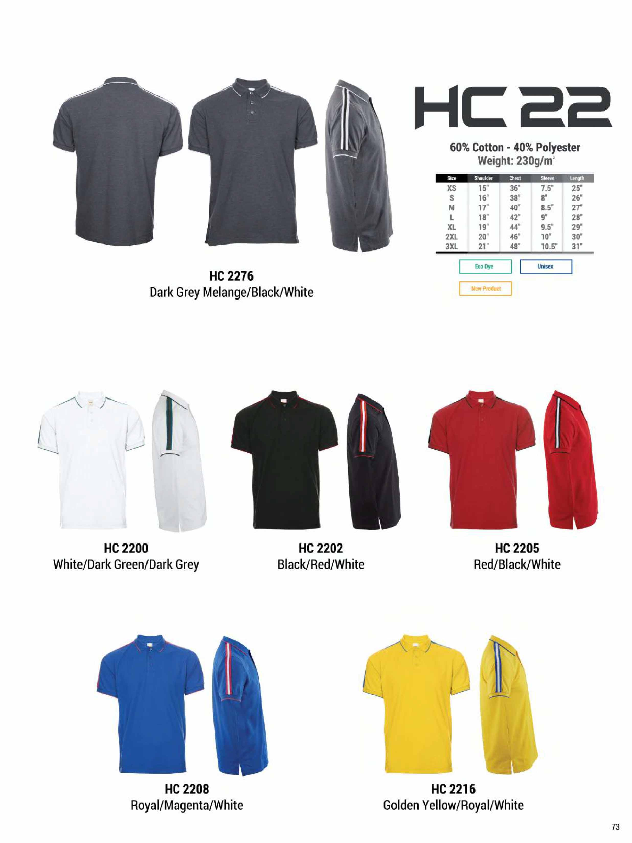 HC22 HONEYCOMB COTTON POLO T-SHIRT