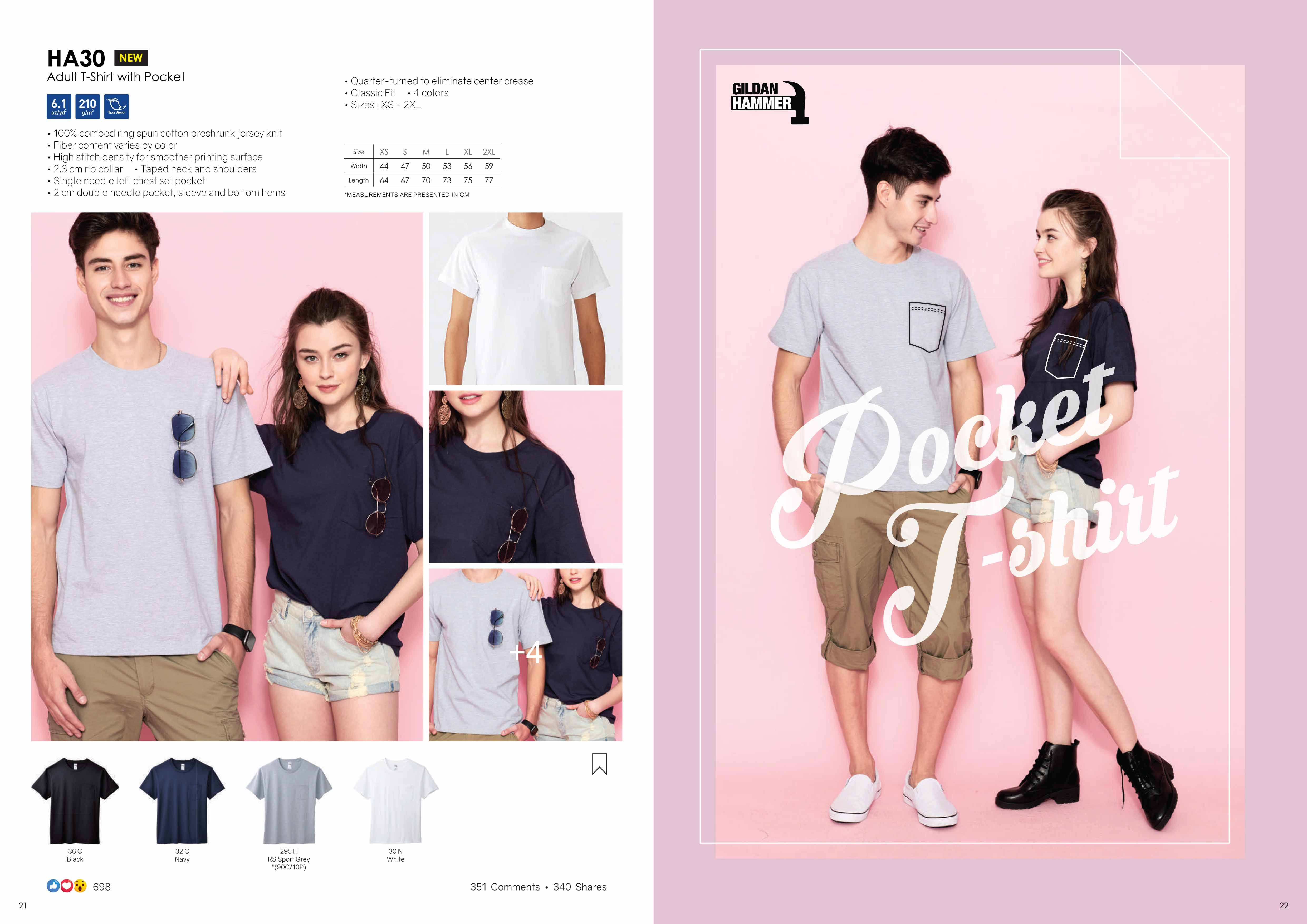 HA30 COTTON T-SHIRT WITH POCKET