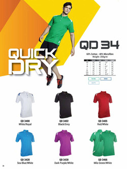 QD34 DRI FIT POLO T-SHIRT