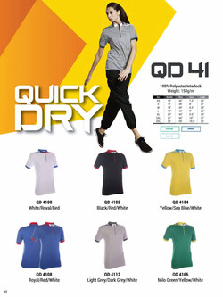 QD41 DRI FIT MANDARIN COLLAR