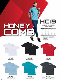 HC19 HONEYCOMB COTTON POLO T-SHIRT