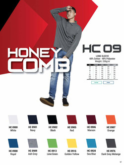 HC09 HONEYCOMB COTTON LONG SLEEVE POLO T