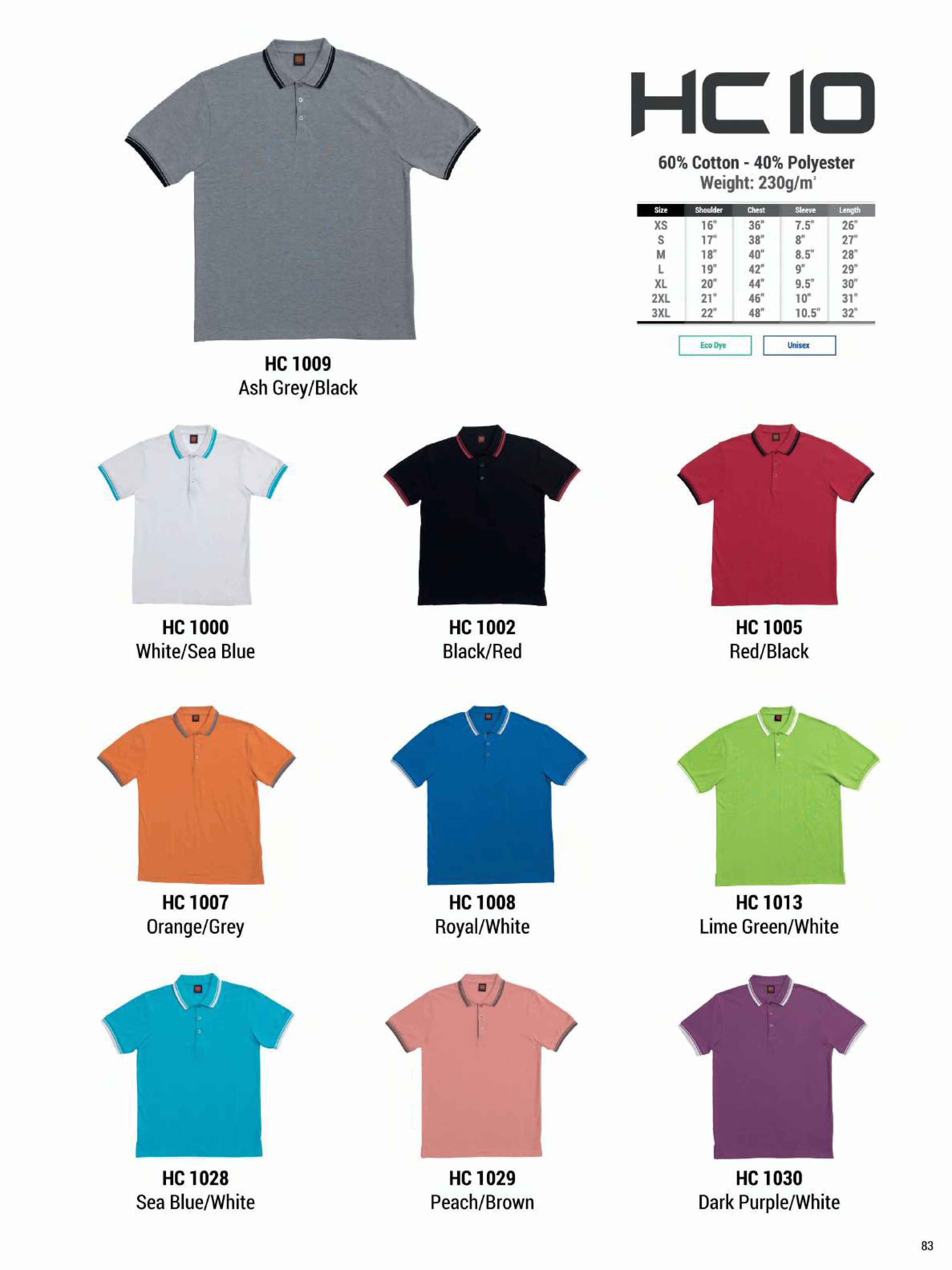 HC10 HONEYCOMB COTTON POLO T-SHIRT