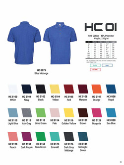 HC01 HONEYCOMB COTTON POLO T-SHIRT