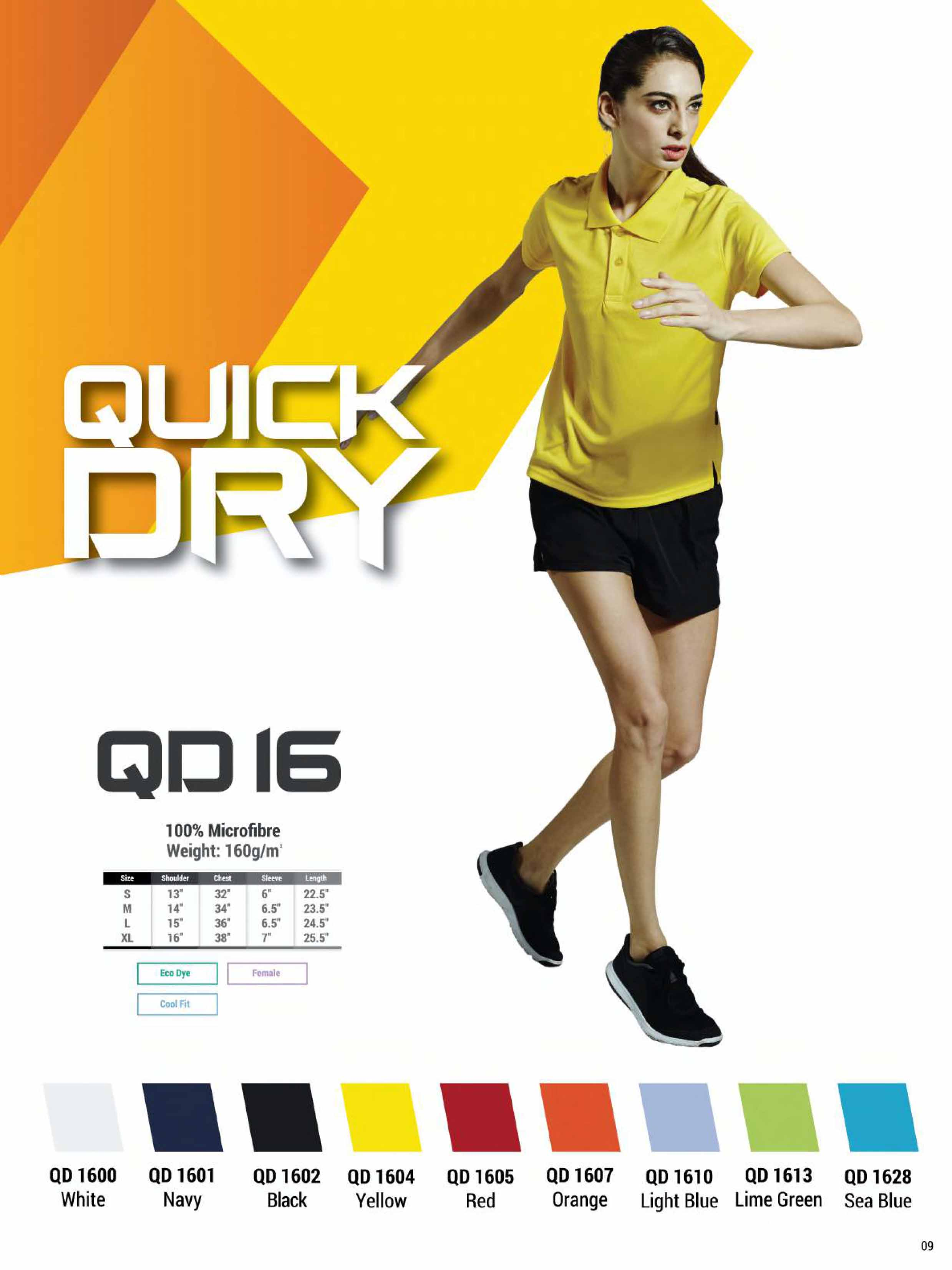QD16 DRI FIT POLO T-SHIRT