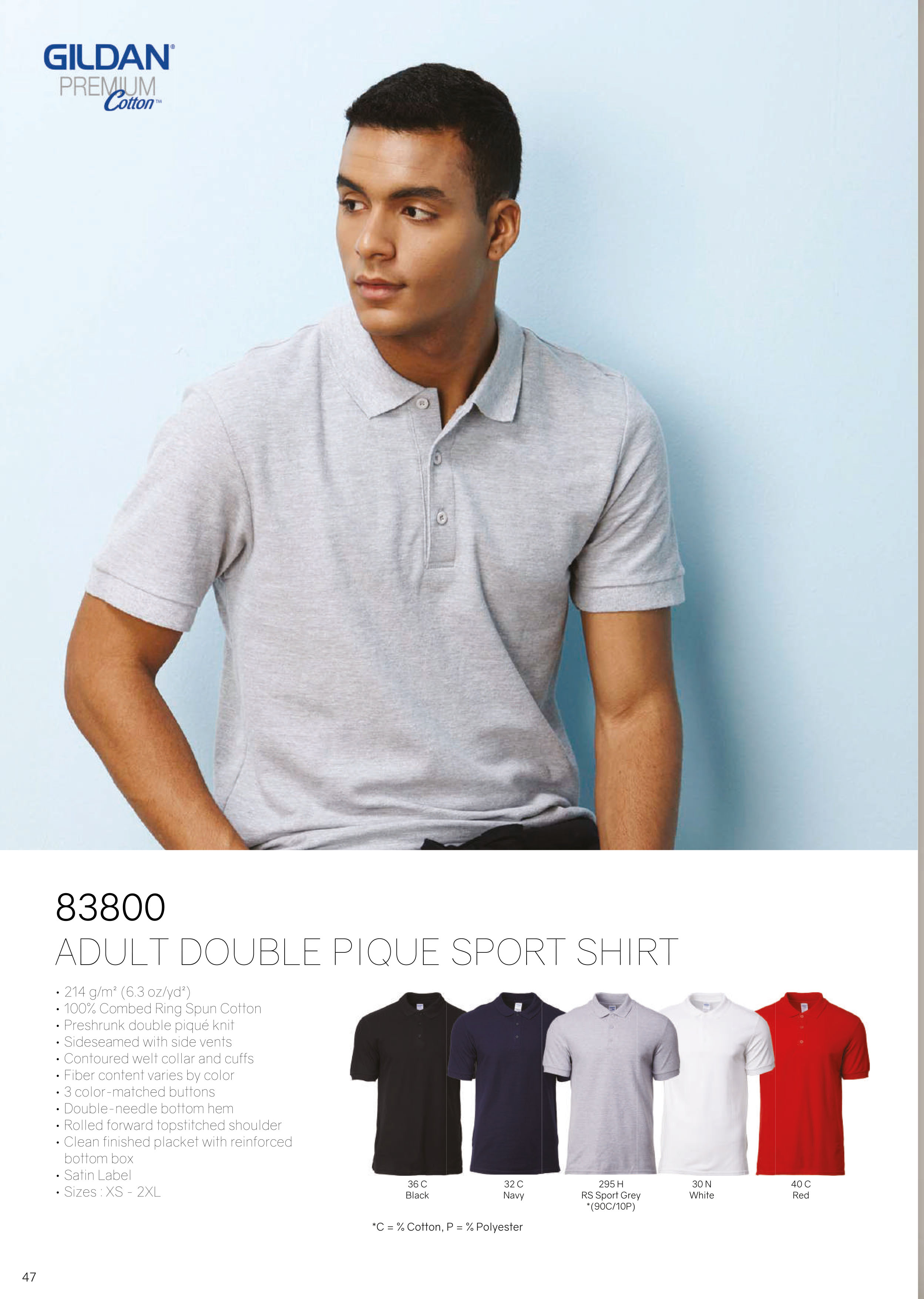 83800 COTTON POLO T-SHIRT