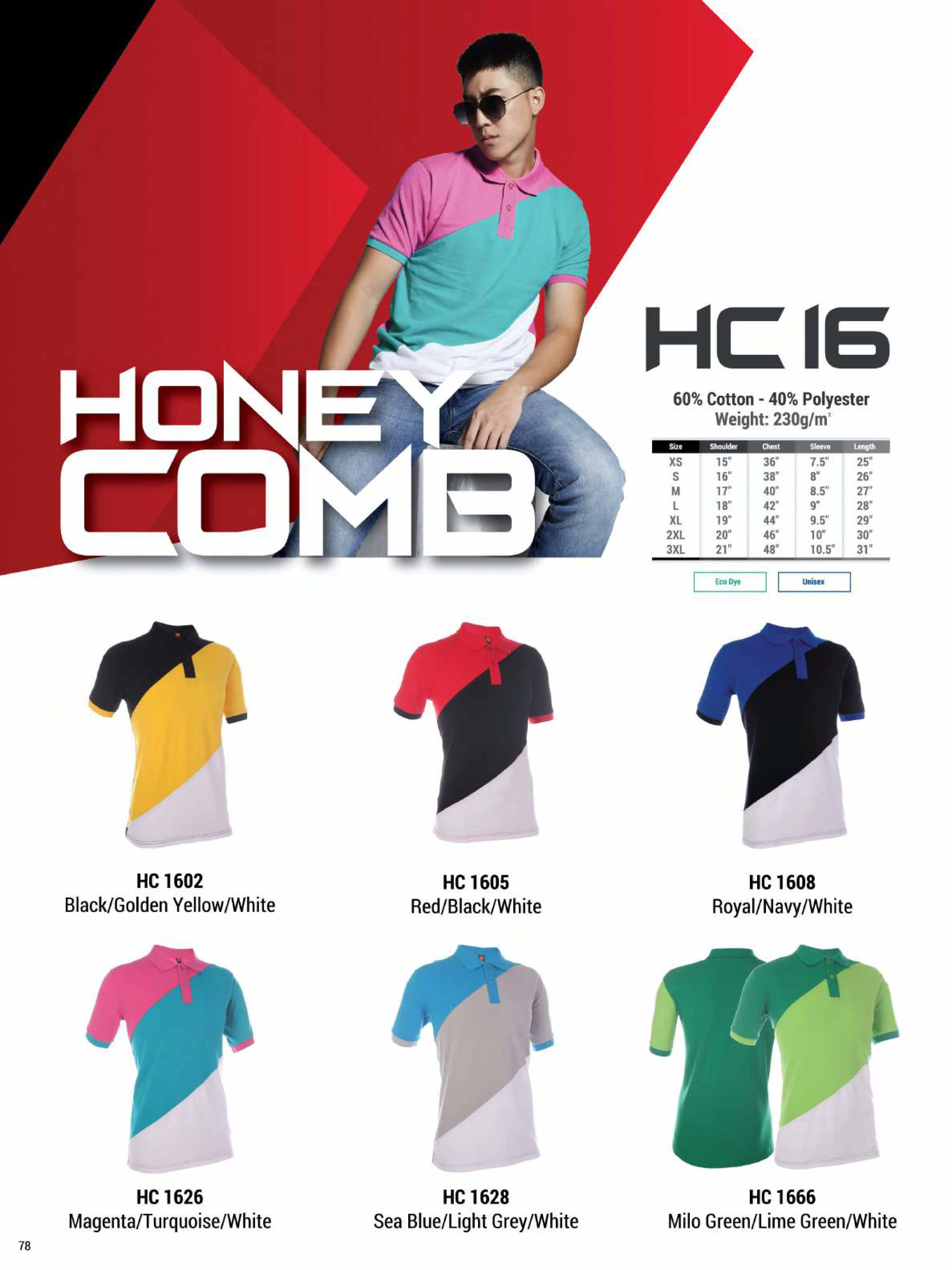 HC16 HONEYCOMB COTTON POLO T-SHIRT