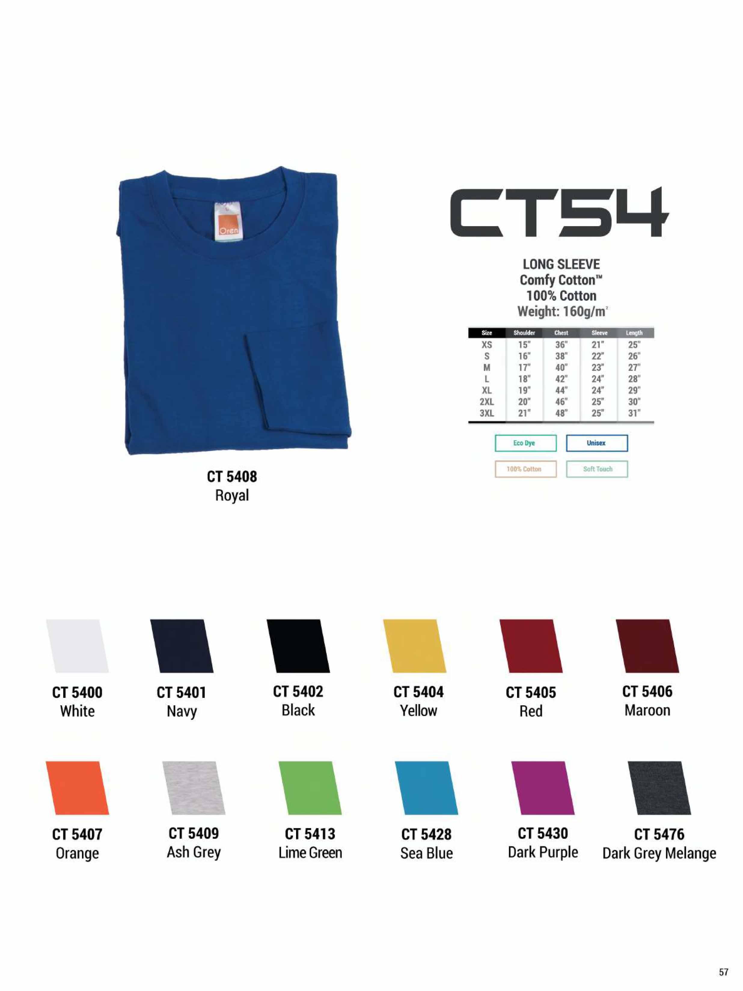 CT54 COTTON LONG SLEEVE T-SHIRT