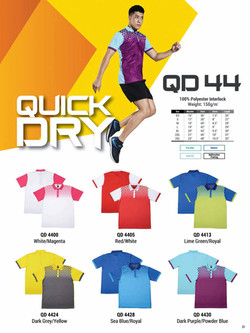 QD44 DRI FIT POLO T-SHIRT