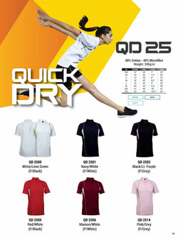 QD25 DRI FIT POLO T-SHIRT