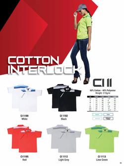 CI11 COTTON INTERLOCK POLO T-SHIRT