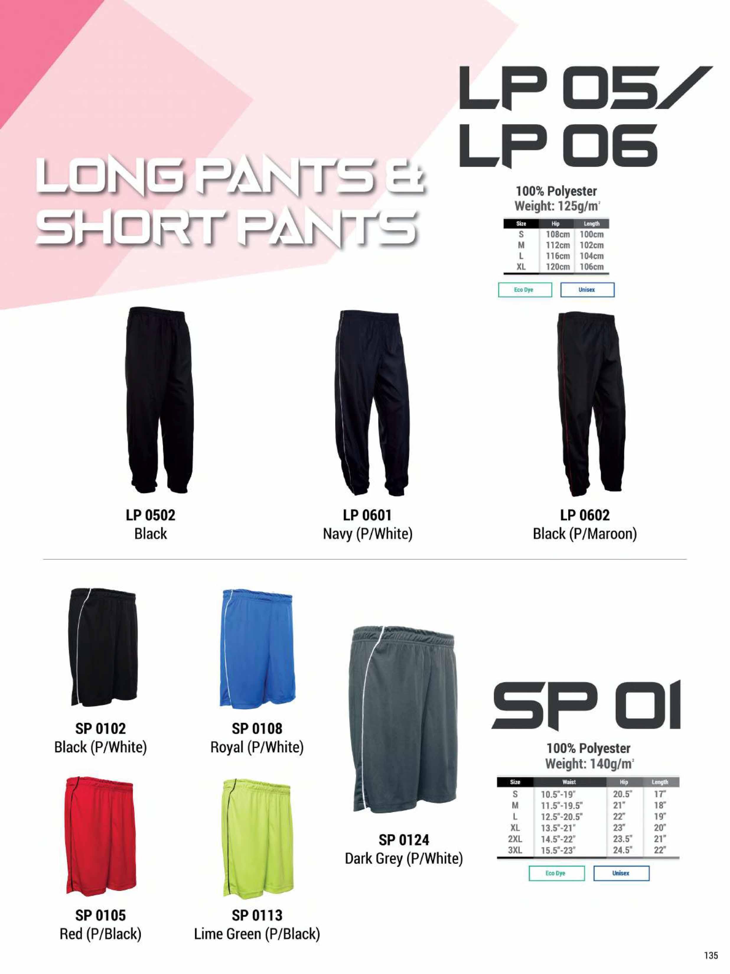 LP05 06 PANTS SP01 SHORTS