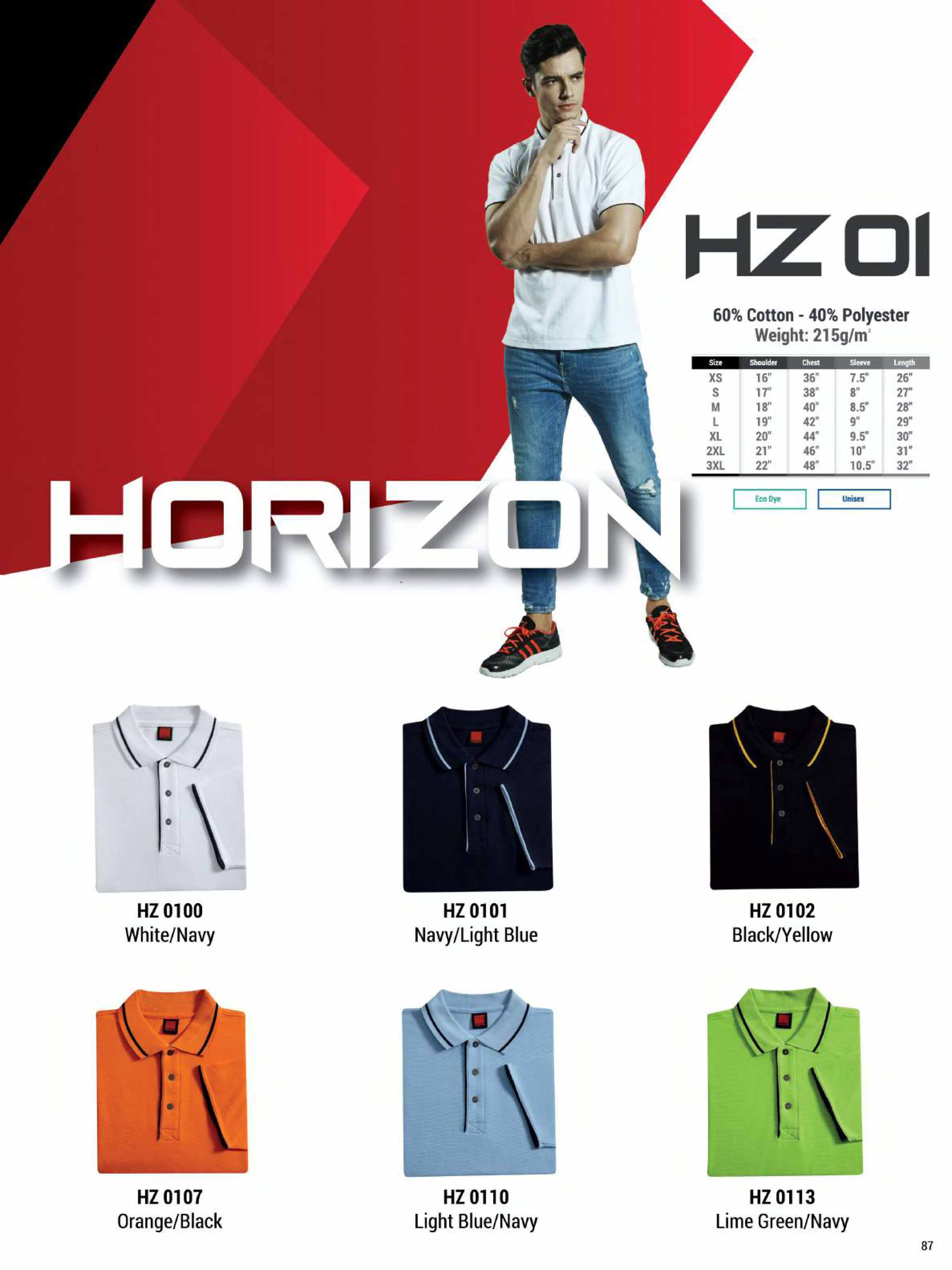 HZ01 HONEYCOMB COTTON POLO T-SHIRT