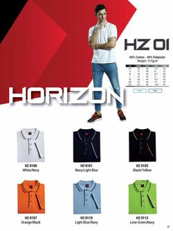 HZ01 HONEYCOMB COTTON POLO T-SHIRT
