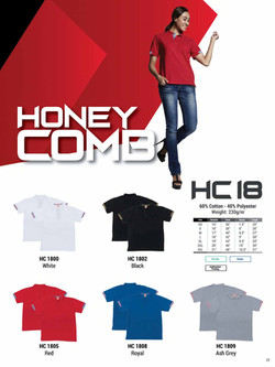 HC18 HONEYCOMB COTTON POLO T-SHIRT