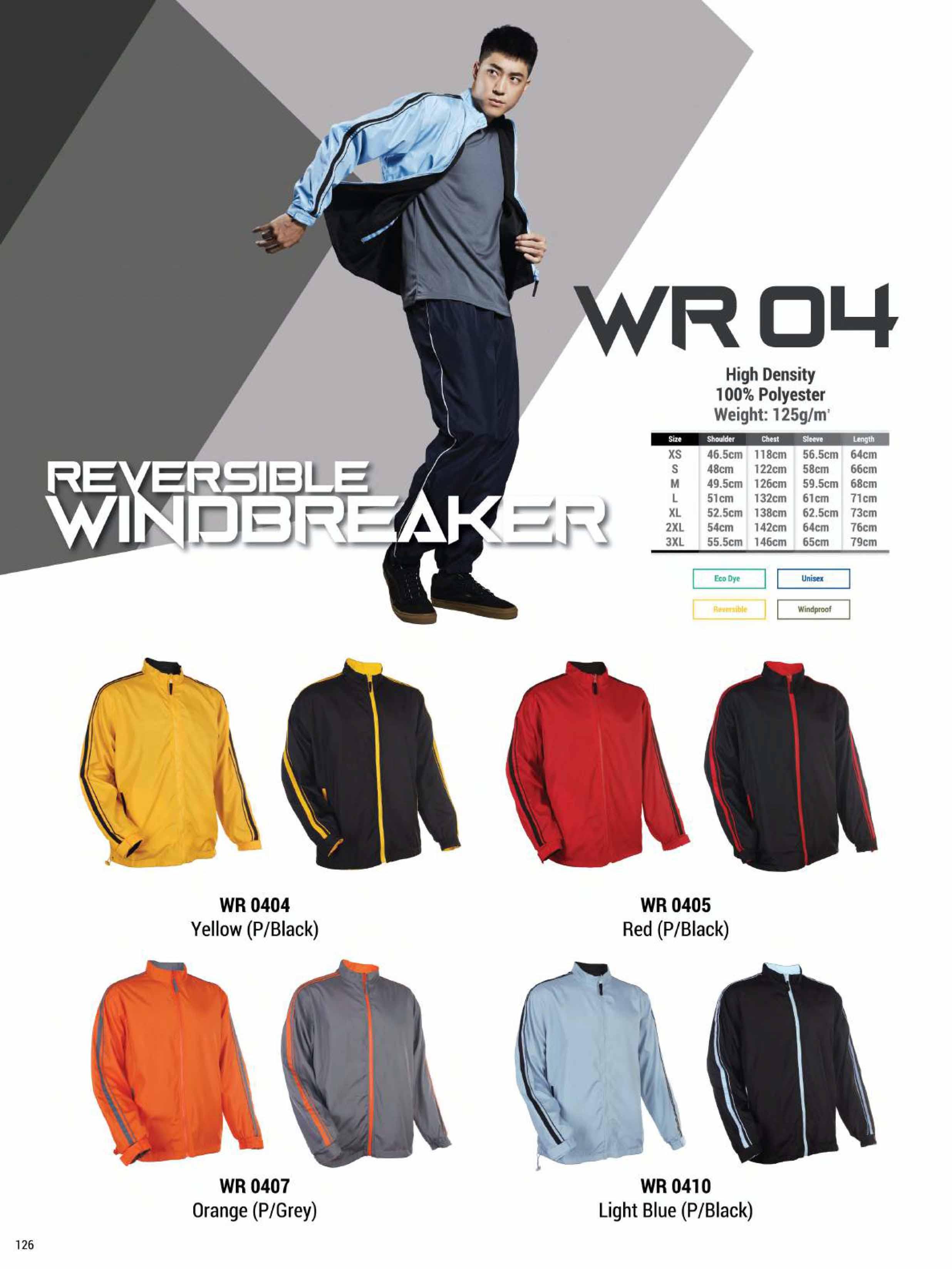 WR04 REVERSIBLE WINDBREAKER