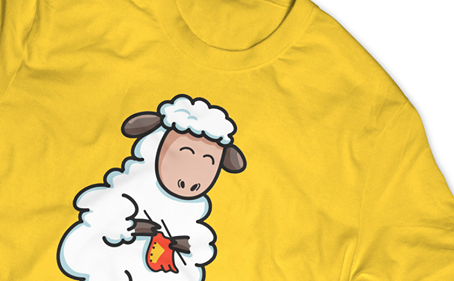 100% Cotton T-Shirt Made From Sheep?!