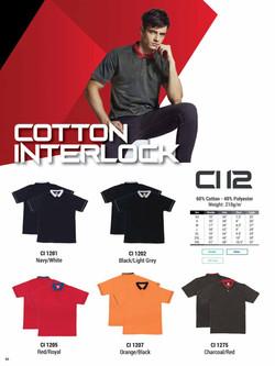 CI12 COTTON INTERLOCK POLO T-SHIRT