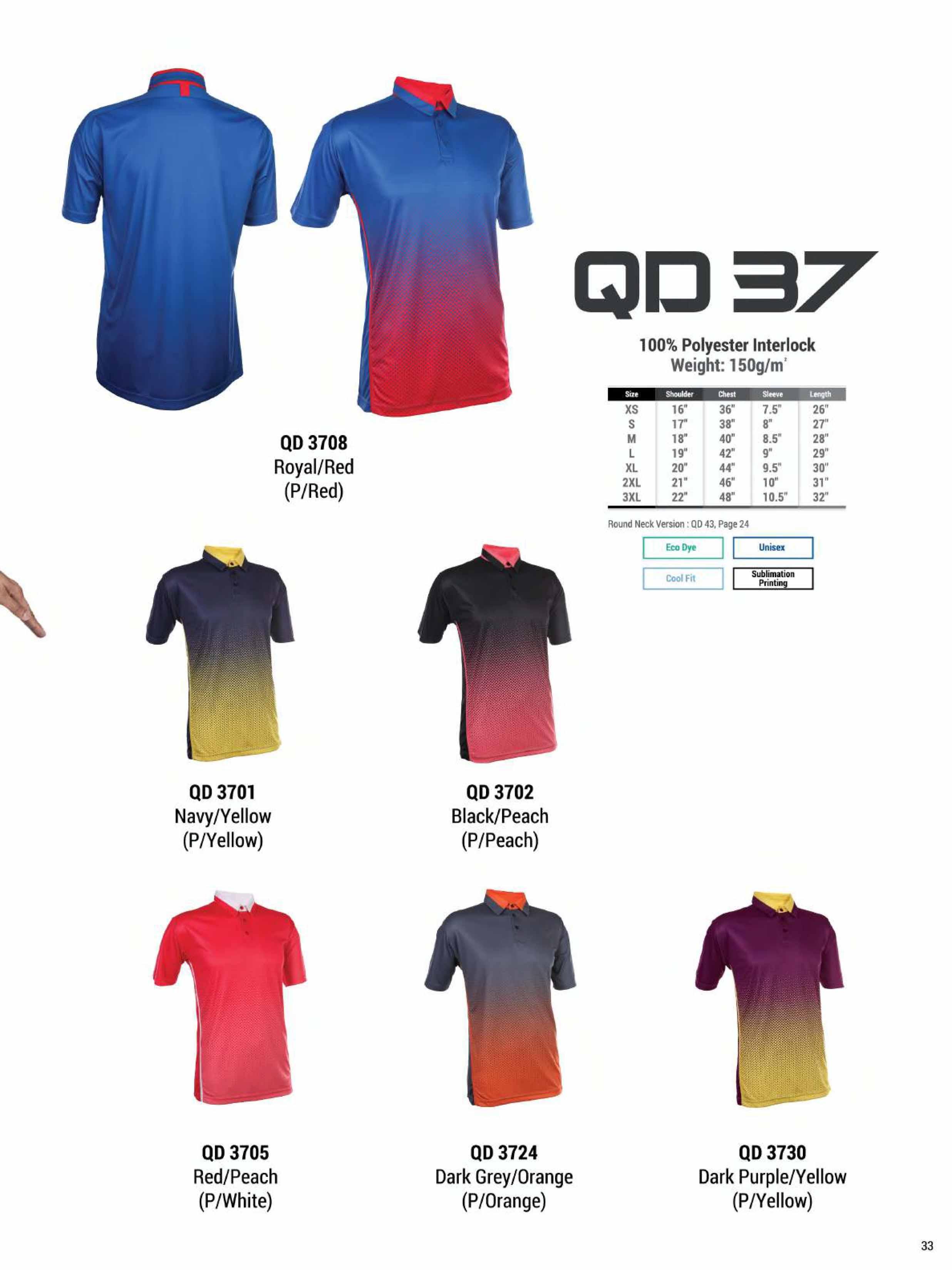 QD37 DRI FIT POLO T-SHIRT