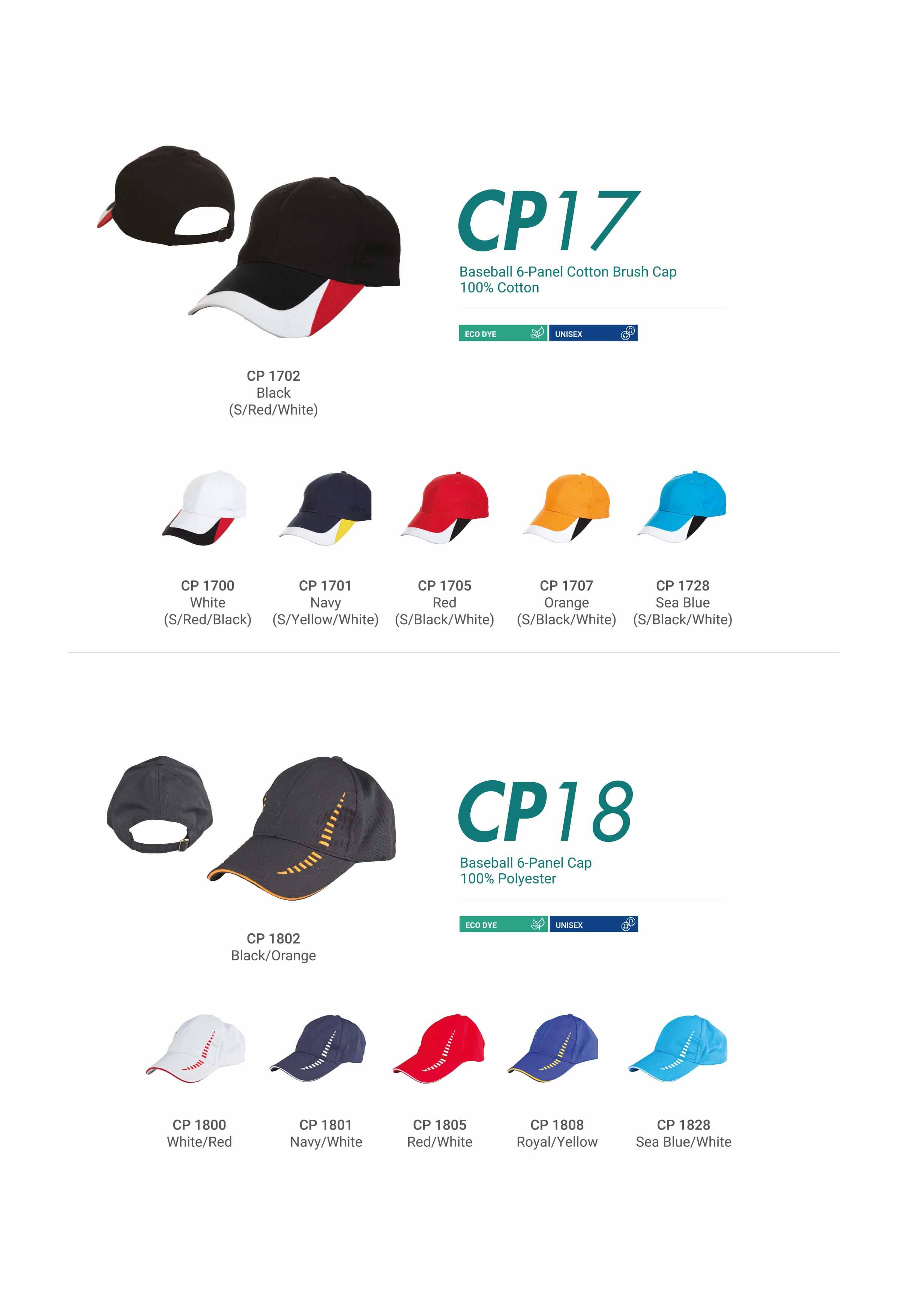 CAP CP17 CP18
