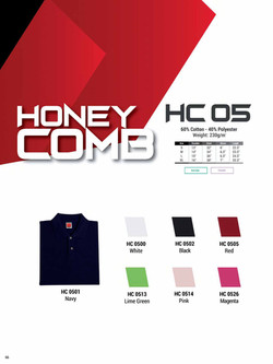HC05 HONEYCOMB COTTON POLO T-SHIRT
