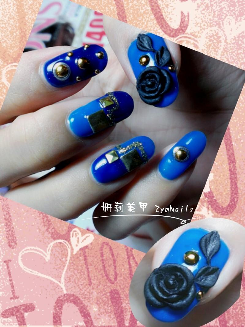 水晶指甲作品10