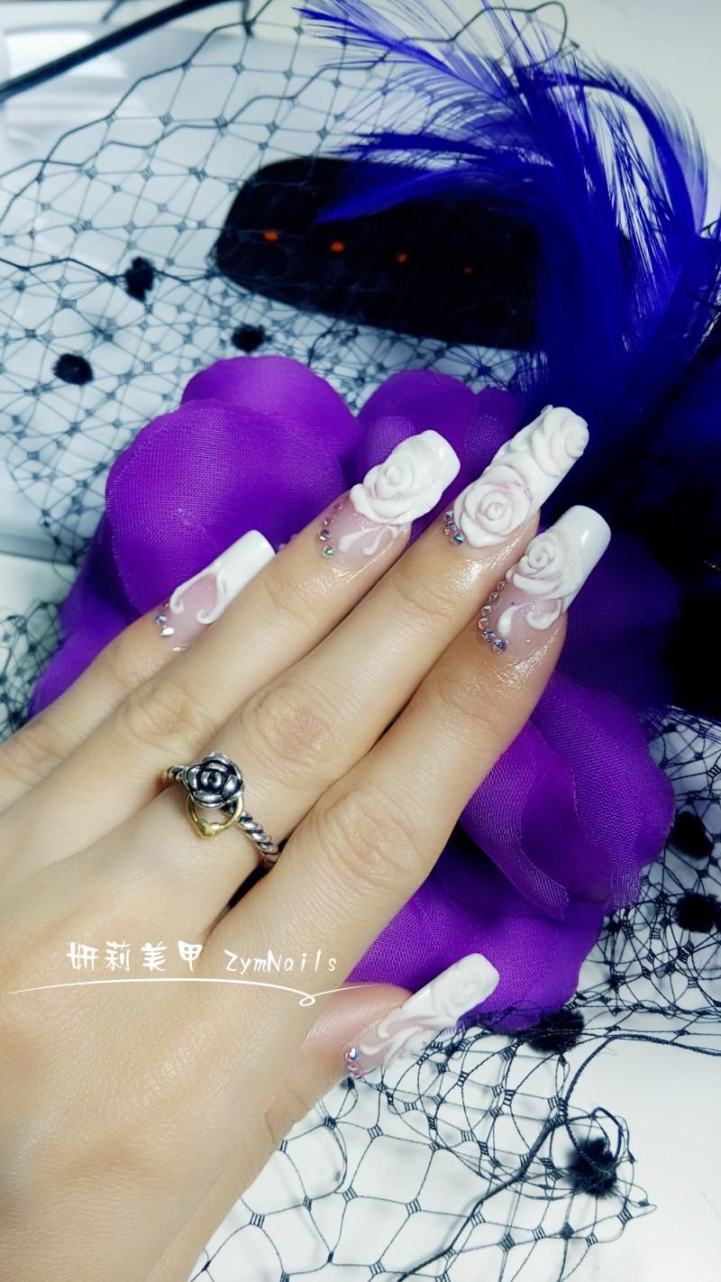 水晶指甲作品14