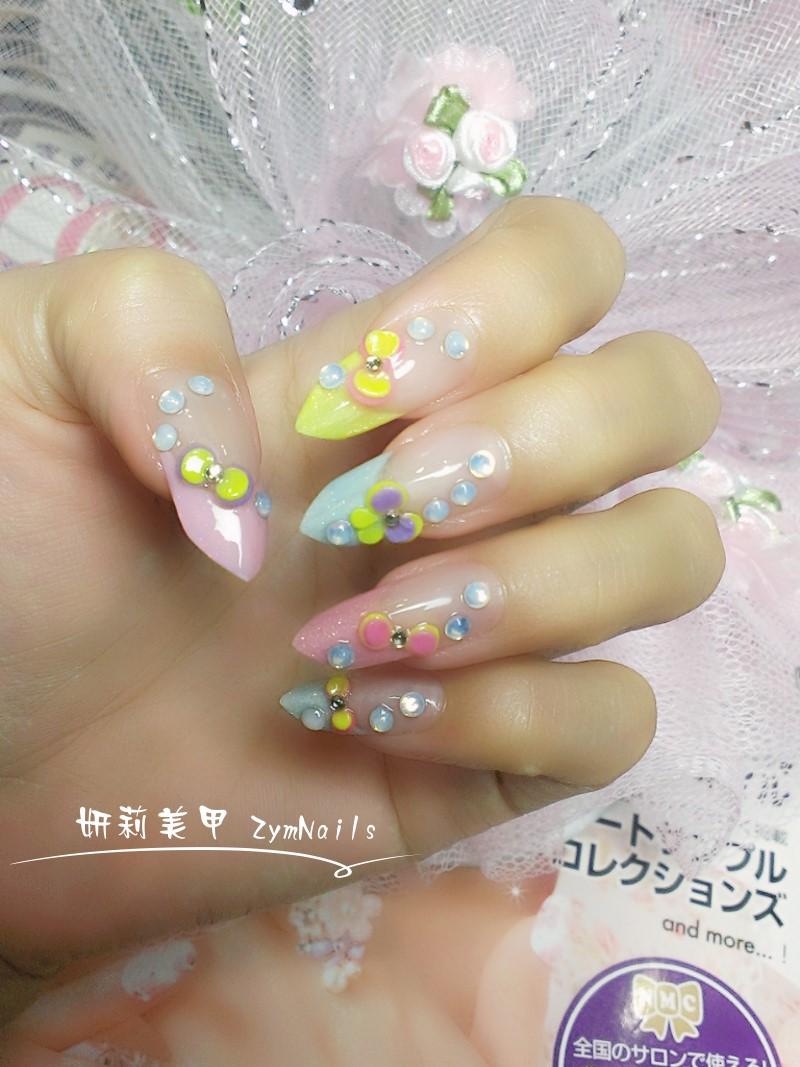 水晶指甲作品13