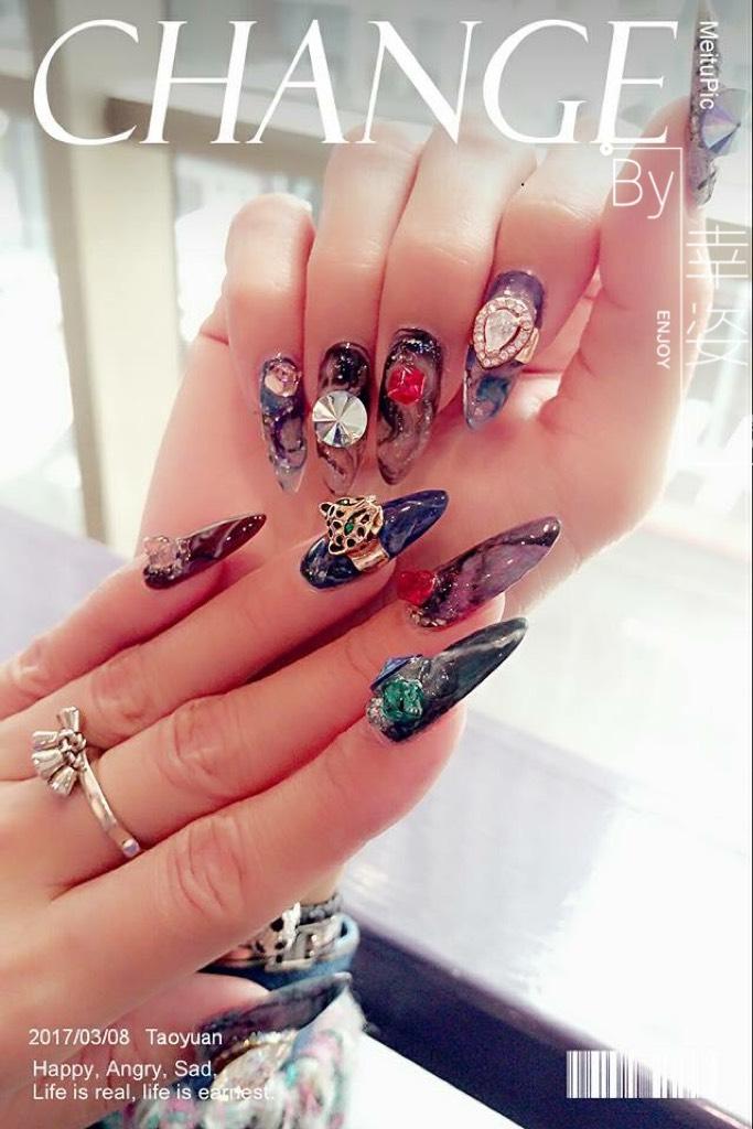 水晶指甲作品19