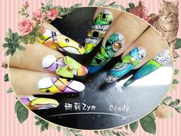 【講師示範】Cindy老師凝膠彩繪指甲欣賞