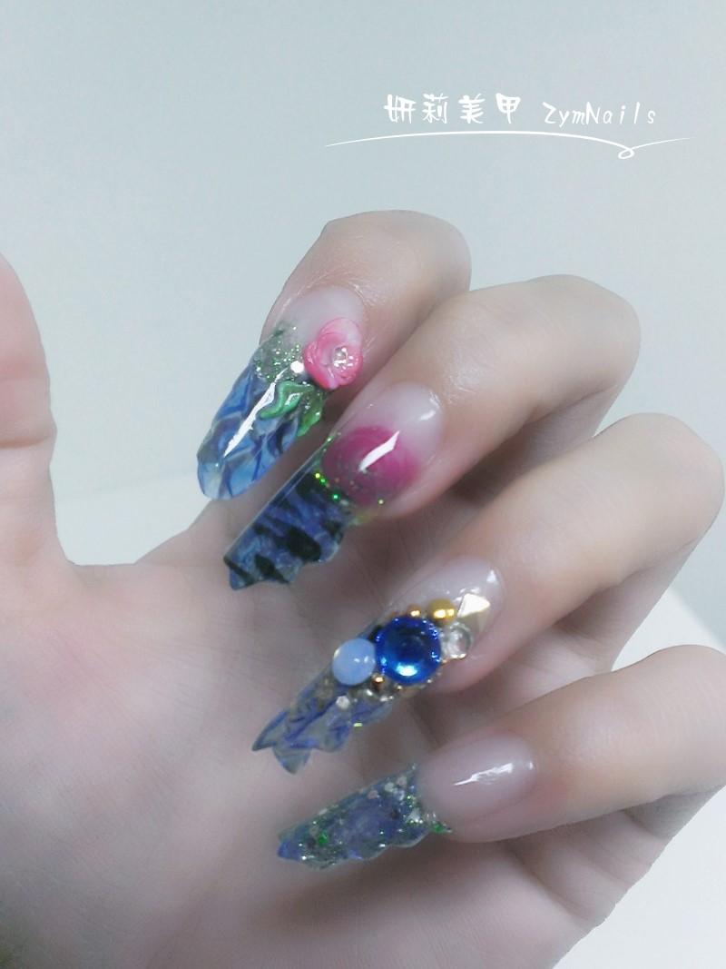 水晶指甲作品03