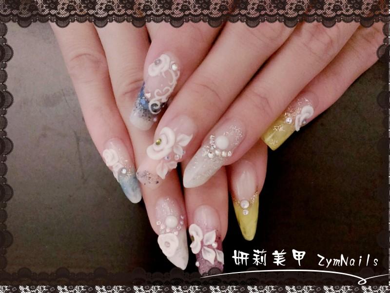 水晶指甲作品15