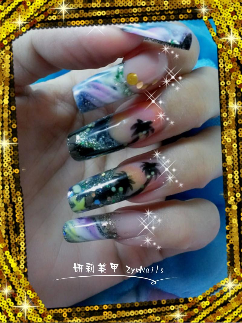 水晶指甲作品08