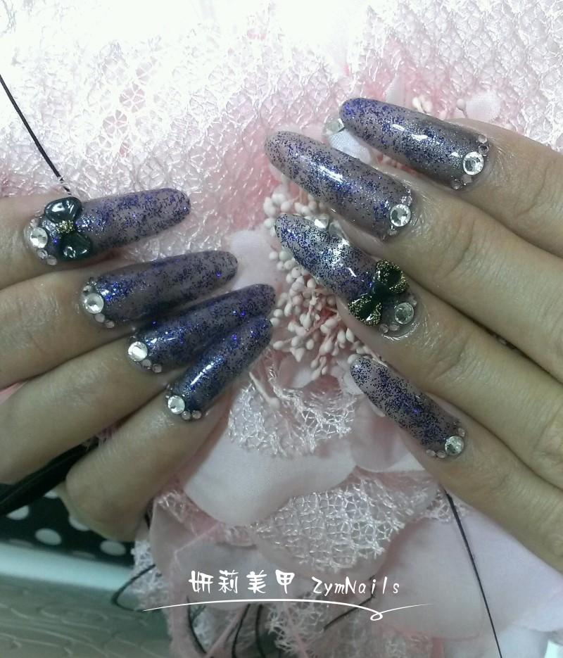 水晶指甲作品04