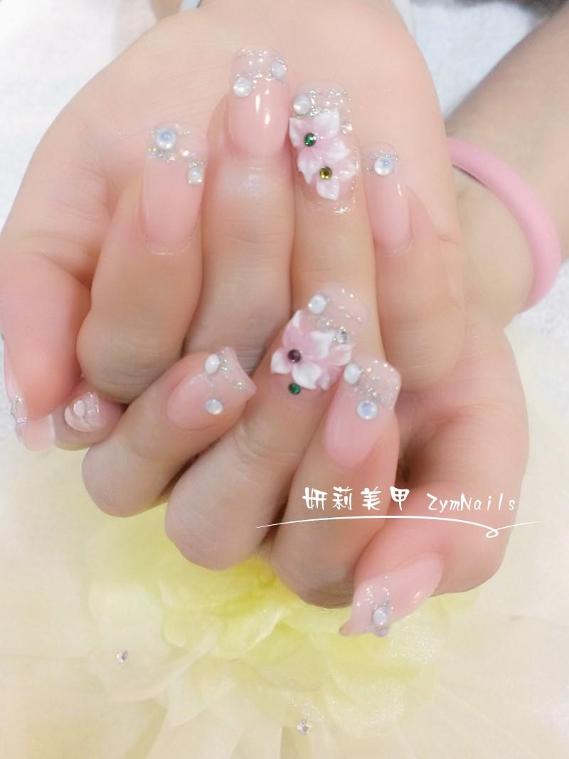 水晶指甲作品17