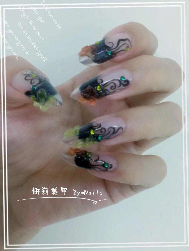 水晶指甲作品07